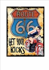 Man Cave Sign Vintage Style Man Cave Shed Club Route 66 Sign Motorcycle club