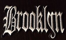 "VINTAGE IRON ON EMBROIDERED BROOKLYN   PATCH. 4""x 2"""