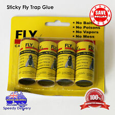 12 rolls sticky flies trap glue insect bug catcher trap ribbon tape strip 3packs