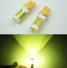 NEW! 2x 80W 7440/7443 CREE LED High Power Car Rear Tail Stop Bulb Light YELLOW