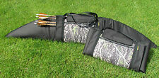 "Traditional Archery Strung Bow Case Split for Quiver fully padded 68"" x 12"""