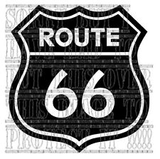 Route 66 decal sticker vinyl graphic biker harley Disney cars toons USA roadsign