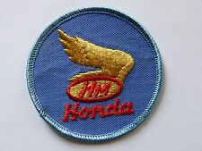 NOS Vintage Honda Motorcycles Patch Blue Red Gold Wing Motors Jacket