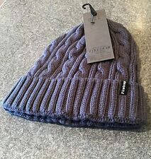 Firetrap Mens Petrol Cable Knit Beanie Hat BNWT New Skiing Boarding Skull Cap l