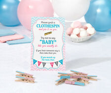 Gender Reveal Clothespin Game Baby Shower Activity