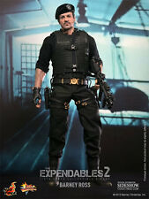 "HOT TOYS Expendables 2 BARNEY ROSS 12"" 1/6 Scale Figure Sideshow Stallone NEW"