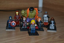 8 Lots The Avengers Minifigures Super Heroes Custom Big Hulk Minifigs Toy Gifts