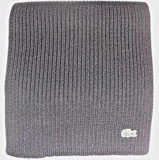 New Lacoste Green Croc Warm Wool Scarf, BLACK, 100% Wool, MSRP $95, RE4212