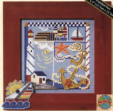 Cross Stitch Kit ~ Mill Hill Buttons & Beads Nautical Seaside Sampler #MH14-7105