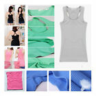 Women Basic Tank Top Racer Back Vest T-Shirt Summer Singlet Camisole Sport YOGA