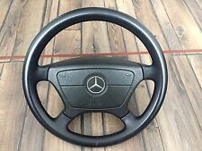 Mercedes Benz AIRBAG Leather Steering Wheel OEM 390mm W124 W126 W201