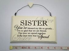 Blessed Sister Wall Plaque Great Gift Ideas for Sisters & her for Birthdays