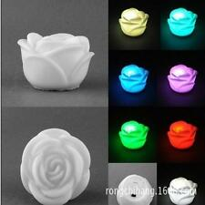 Christmas Weeding Rose Flower Light 7 Color Changing  LED Night Floating