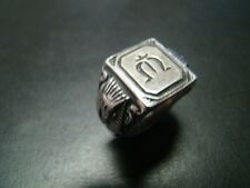 Unique and Exciting Sterling Silver Egyptian Crest ring