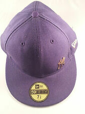 59 fifty new era  baseball cap purple new york yankees hat sun size 7 3/8  59 cm