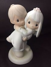 Precious Moments, Bless You Two, E-9255, Wedding Couple w/ Original Box