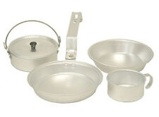 COLEMAN 1 Person Aluminum Camping Mess Kit Cookware Set - Cup, Pan, Pot, & Plate