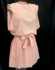 Balenciaga Dress Peach Tie Waist Size 38