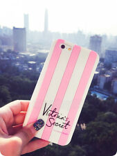 Cute Lovely PINK Stripe Soft Silicone Case Cover for iPhone 4 5S 6 7Plus Samsung