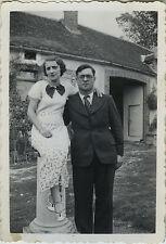 PHOTO ANCIENNE - VINTAGE SNAPSHOT - COUPLE AMOUREUX MODE ÉLÉGANCE-FASHION LOVERS