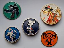 Icons with characters from the cartoon of the USSR, 5 pcs