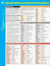 Spanish Idioms and Advanced Vocabulary SparkCharts by SparkNotes Staff (2014,...