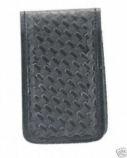 POLICE SHERIFF SECURITY GUARD LEATHER MEMO NOTE BOOK PAD HOLDER CASE BASKETWEAVE