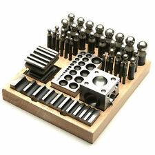 ON SALE NOW! Deluxe 41-Piece Metal Jewelry Dapping Doming Punch Swage Block Set