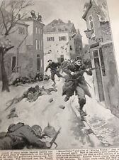 49500 Ww1 Book Plate French Troops Take Vassincourt France At Bayonet Point