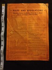 RARE 1938 STATE OF TEXAS RULES & REGULATIONS BARBER SHOP, SCHOOL & BEAUTY PARLOR