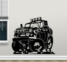 Monster Truck Wall Decal Jeep Car Wrangler Vinyl Sticker Art Decor Mural 36thn