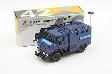 TINY Hong Kong Police #42 PTU Armoured Vehicle 7.5CM Diecast 1/72 Model Car