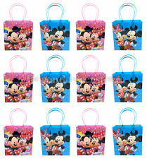 Disney Mickey & Minnie Mouse Birthday Party Favors Goodie Bag 12pc Gift Set Bags