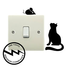 Cat and Mouse Switch Vinyl Decal Sticker Child Room Lightswitch Wall