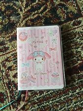 Sanrio My Melody 2017 Schedule monthly weekly note Diary Planner Notebook. NIP