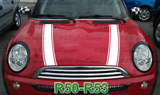 Strisce stripes ADESIVI COFANO per Mini Cooper r50 r52 r53 ONE WORKS Jack