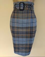 Vivienne Westwood Red Label 40 Immaculate Virgin Wool Tartan Check Pencil Skirt