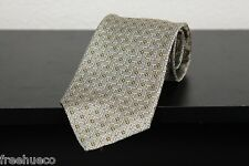 ROBERT TALBOTT Best Of Class Metallic Gold Multi Geometric Patterns Silk Tie