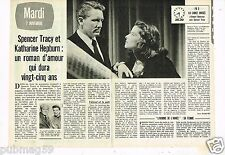 Coupure de Presse Clipping 1978 (2 pages) Spencer Tracy et Katharine Hepburn