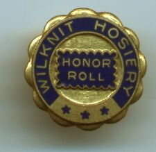 Wilknit Hosiery Honor Roll Enameled Employee Service PIN