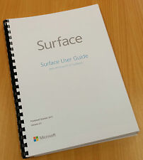Printed Windows Surface RT 8.1 Instruction Manual / User Guide