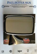 Classic MG MGB Genuine Tex Wing Mirror, Stainless Steel (Drivers Side R/H)