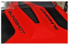 TUFSKINZ | Polaris Slingshot Raised Hood Letters - Domed Real Carbon Fiber