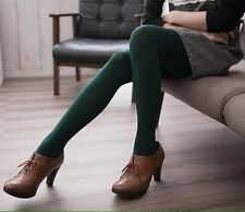 Bottle Green Opaque Tights XS/S Diamond Textured