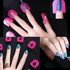 26pcs Nail Art Manicure Stickers Tips Finger Cover Polish Protector Set