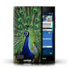STUFF4 Case/Cover for Blackberry Leap/Wildlife Animals/Peacock
