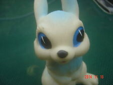 VINTAGE SOVIET RUSSIAN USSR RUBBER TOY SMALL BABY RABBIT ABOUT  1980  #3