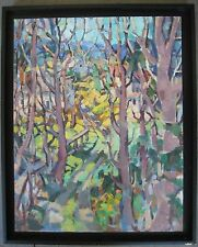 AMERICAN BEN MOORE VIEW THROUGH TREES RUSSIAN IMPRESSIONIST MANNER LANDSCAPE