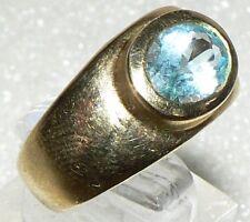 Ring aus 333er Gelbgold mit Aquamarin, Gr. 59 (da2716)