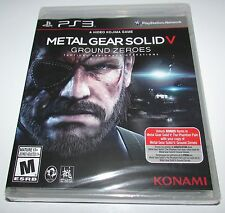 Metal Gear Solid V: Ground Zeroes for Playstation 3 Brand New! Factory Sealed!